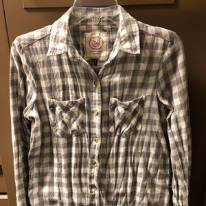 Grey and white flannel!